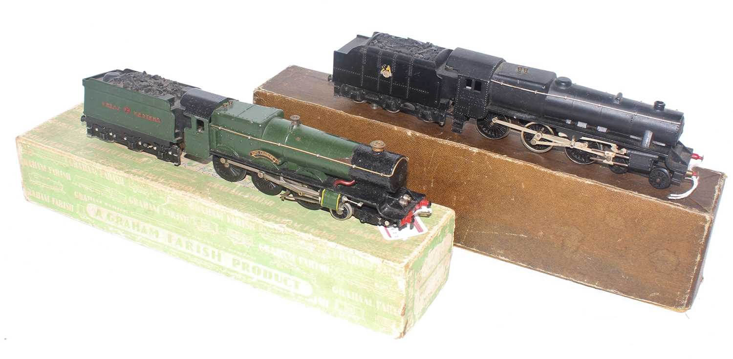 Two Graham Farish locos and tenders: LMS 'GP5' 5MT 4-6-0 for 2-rail, 44753 unpainted numbers (G- - Image 2 of 2