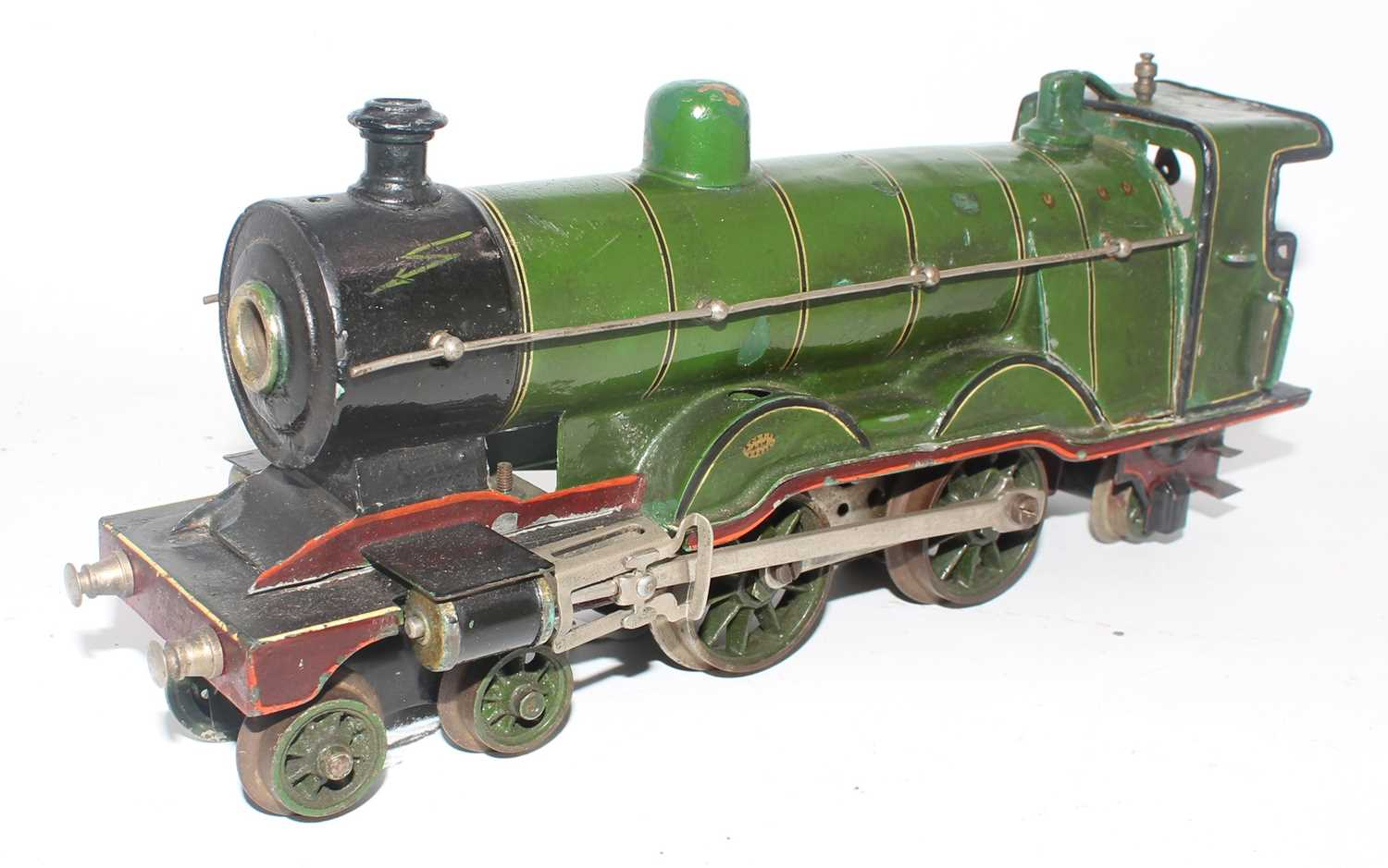 Marklin 4-4-2 loco, electric British Outline, heavily over painted and varnished, C.E.3120 on r/h
