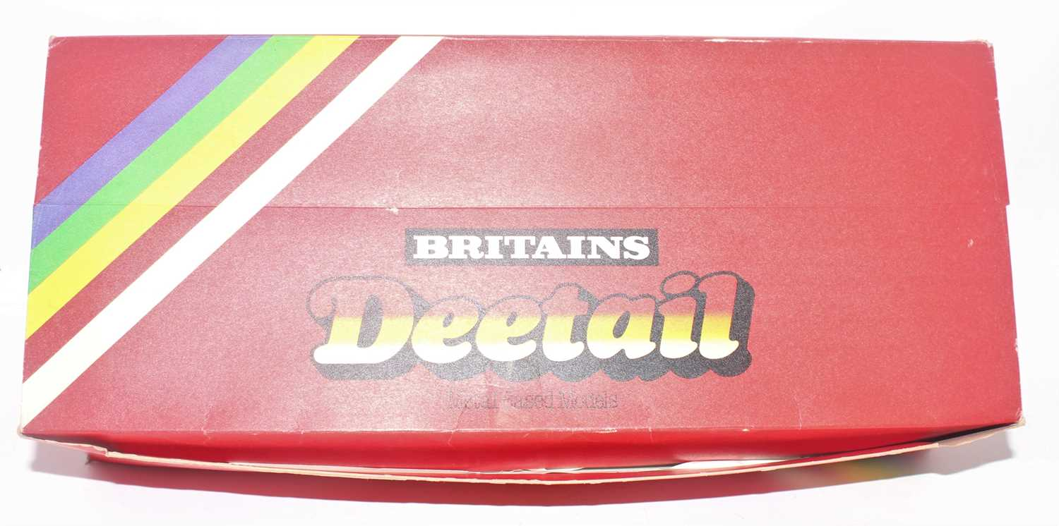 A Britains detail no. 7250 shop counter trade box containing a large quantity of Scots Guards