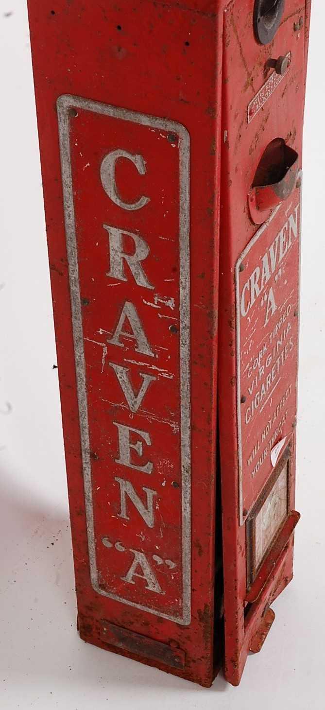 Original Circa 1930s Craven A Cigarette Dispenser/vending Machine, red and silver, suitable for - Image 3 of 5