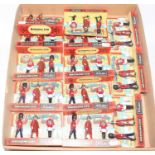 Fourteen various carded Britains no. 7223 Scots Guards, Beefeaters and Lifeguards gift set, all