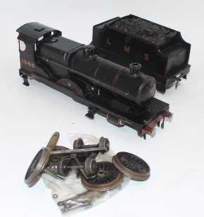 Parts for Bassett Lowke 4-4-0 loco and a complete tender, comprising wheels, bogie, c/w body, - Image 2 of 2