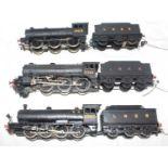 Three kit built LNER black locos and tenders:- J11 0-6-0 1929 BEC Kit, K3 2-6-0 3381 Wills