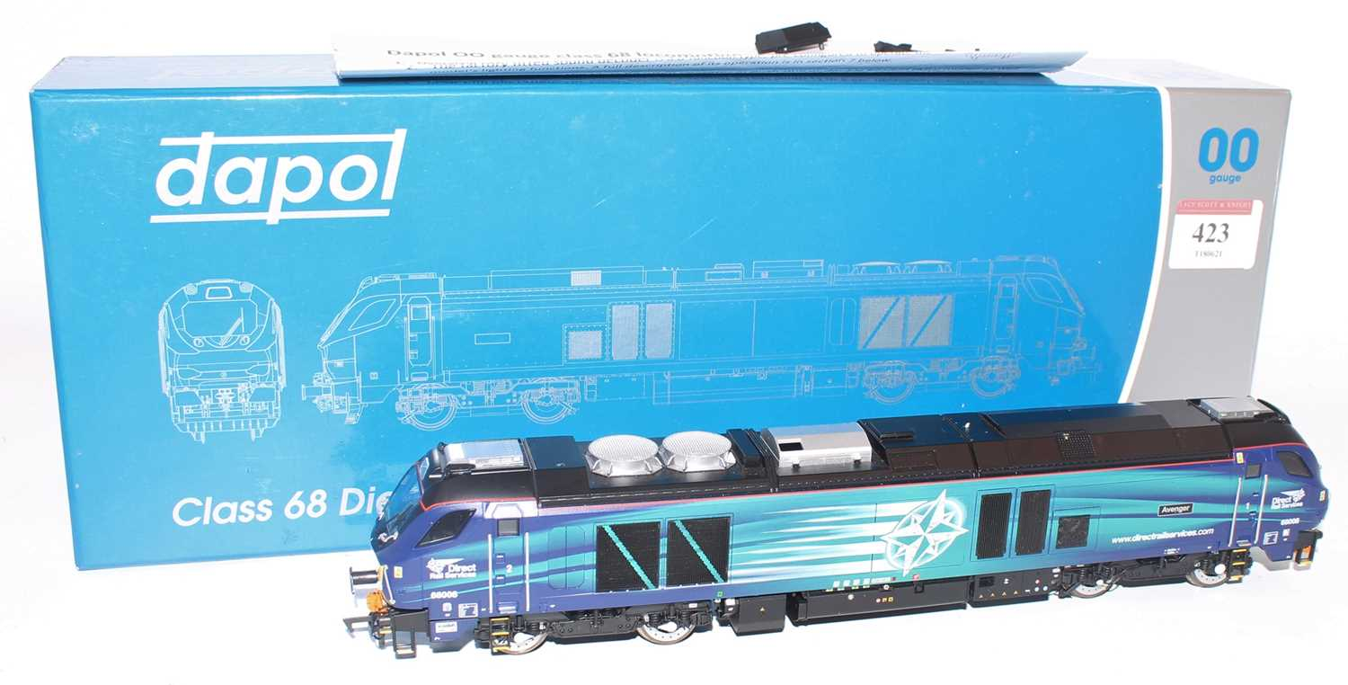 Dapol 4D-022-008 Class 68 diesel electric loco 68003 Astute DRS Early Service. (E) (BE) but - Image 2 of 2