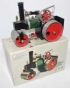 Mamod steam roller SR1A green body, white roof, red hubs, will benefit by cleaning (E-BE)