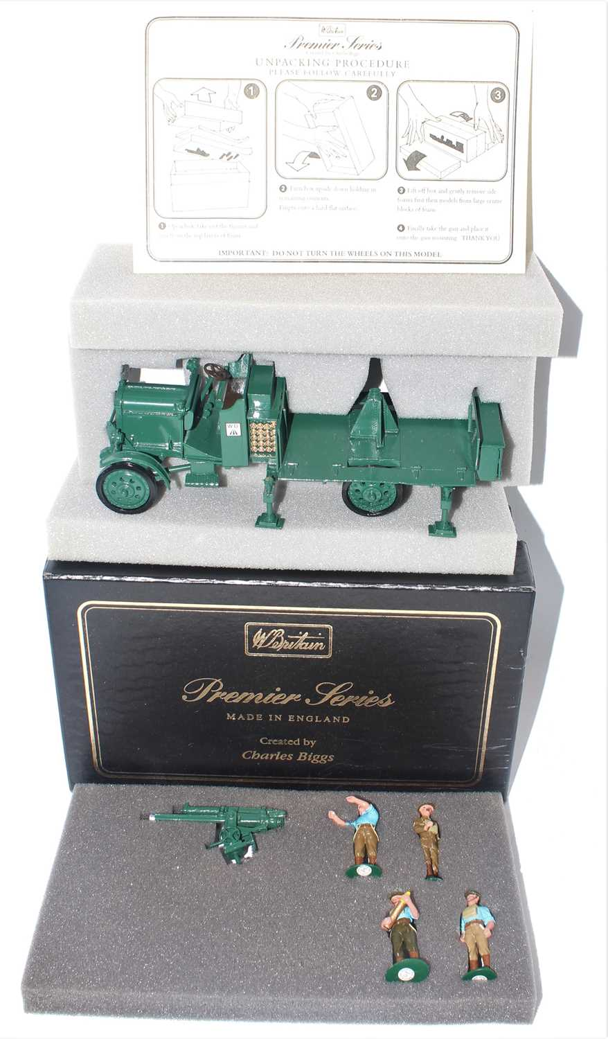 A Britains Premier Series created by Charles Biggs No. 8926 Thornycroft AA truck with service