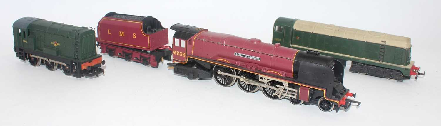Three locos:- Hornby Duchess of Sutherland with tender, appears to have extra wiring between - Image 2 of 2