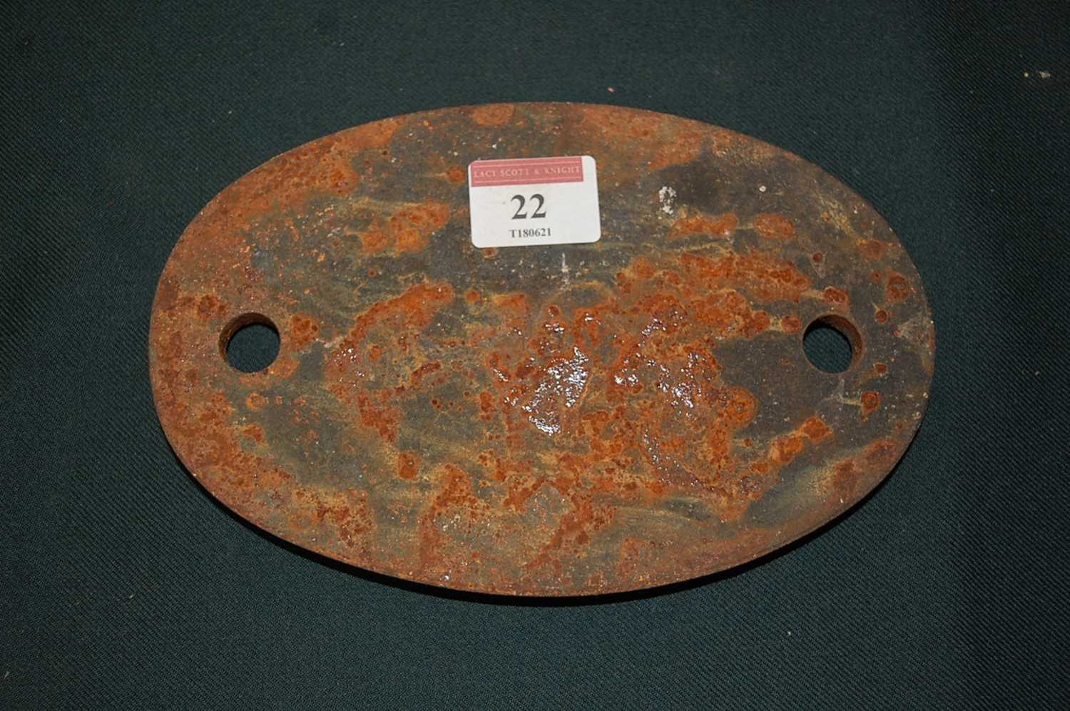 Original Shed Plate, 30a, Stratford, white on blue - Image 3 of 3