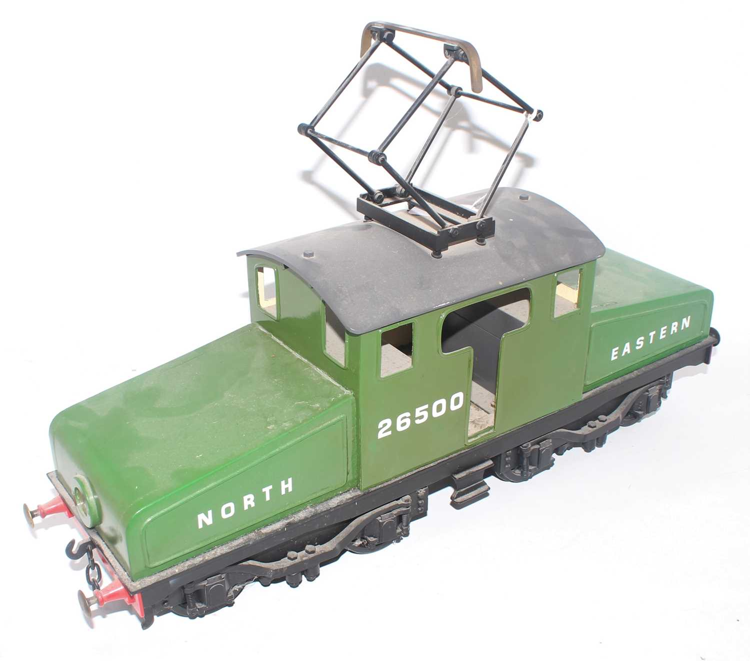 """A 3"""" gauge electrically operated model of a North Eastern No. 26500 Steeple cab locomotive, finished"""