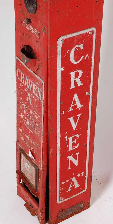 Original Circa 1930s Craven A Cigarette Dispenser/vending Machine, red and silver, suitable for - Image 2 of 5