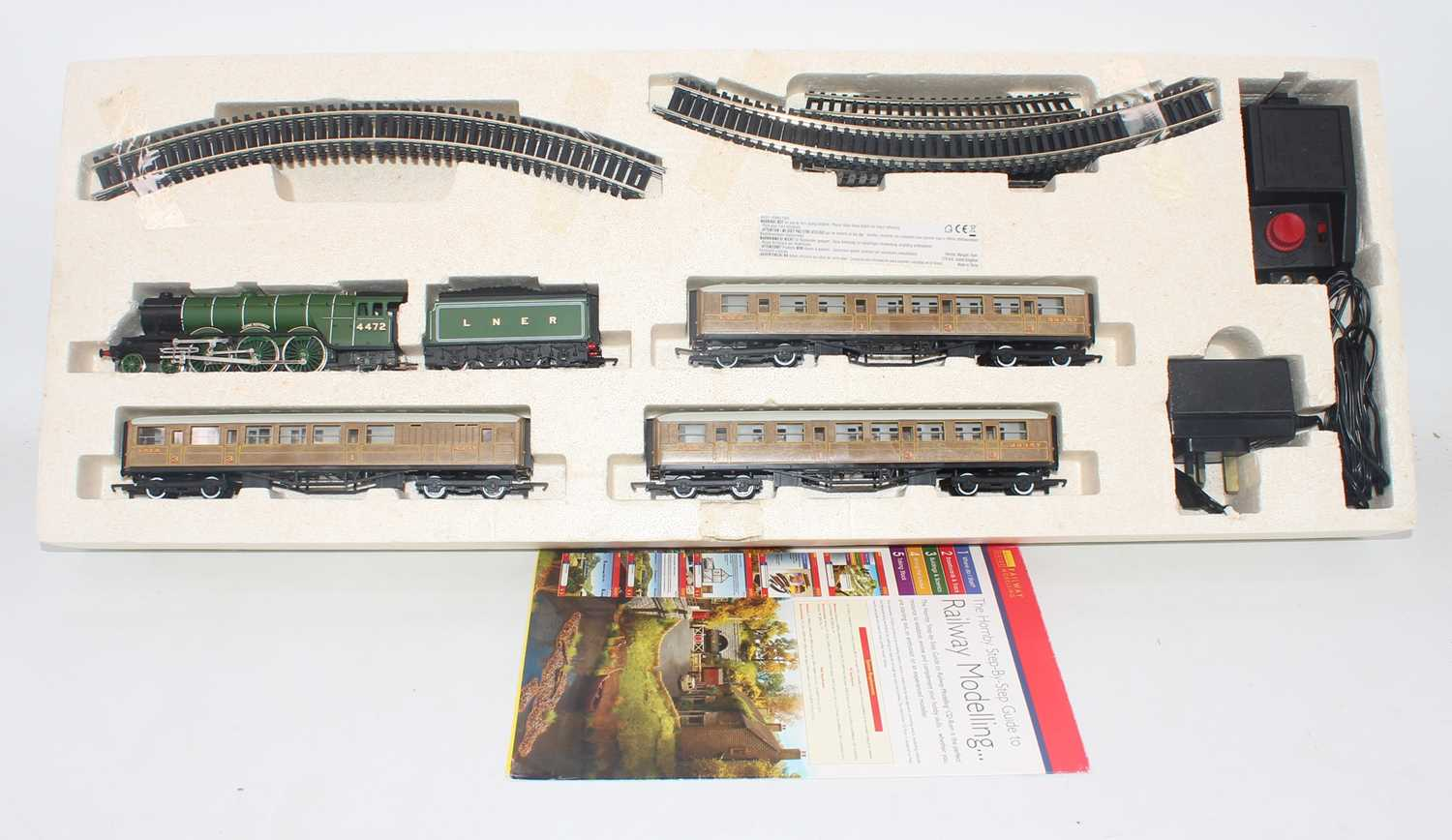 A Hornby Railways Flying Scotsman electric train set, comprising of locomotive, carriages, track - Image 2 of 2