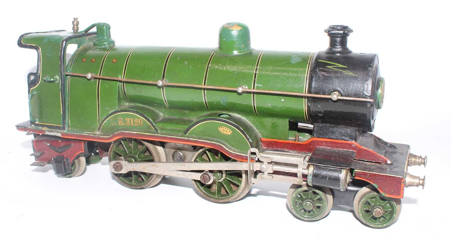 Marklin 4-4-2 loco, electric British Outline, heavily over painted and varnished, C.E.3120 on r/h - Image 2 of 2