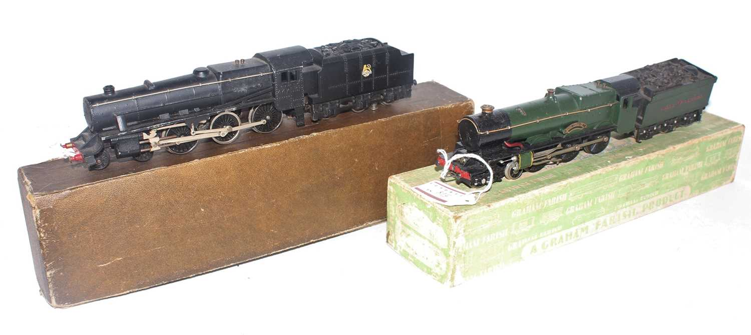 Two Graham Farish locos and tenders: LMS 'GP5' 5MT 4-6-0 for 2-rail, 44753 unpainted numbers (G-