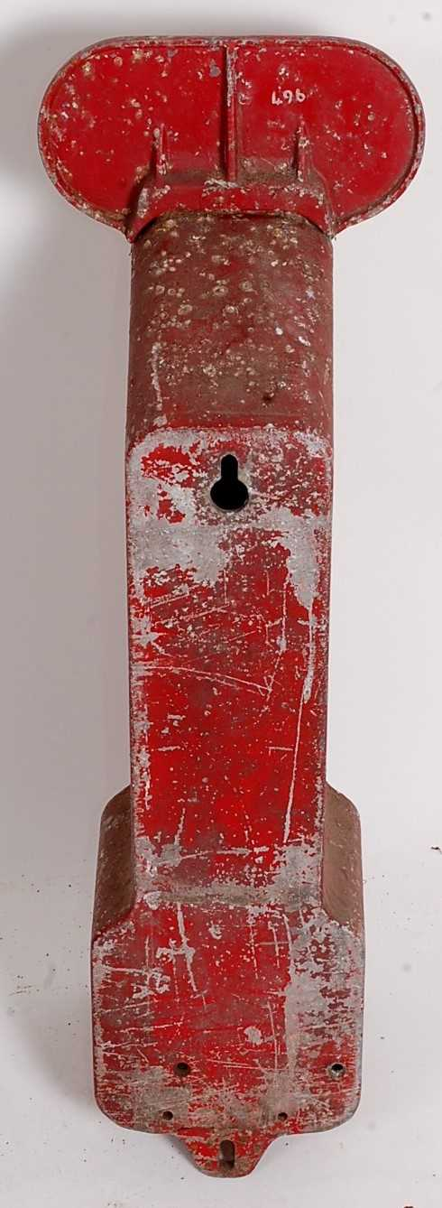 An early 20th century Nestle Chocolate wall-mounted chocolate dispenser, galvanised, coin operated - Image 4 of 4