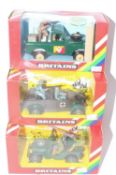 A collection of Britains rainbow boxed issued military vehicles to include no. 9786 US jeep, no.