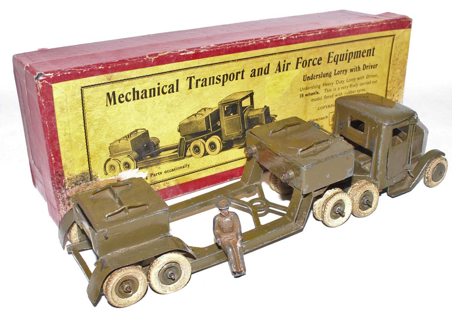 Britains Set No.1641 Underslung Lorry, 1940s example, comprising of square nose 10-wheel Tractor - Image 2 of 2