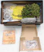 One box containing a quantity of various lead hollow cast farming diorama and accessories the