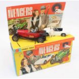 A Corgi Toys gift set No. 40 The Avengers comprising of John Steed's vintage red Bentley and Emma