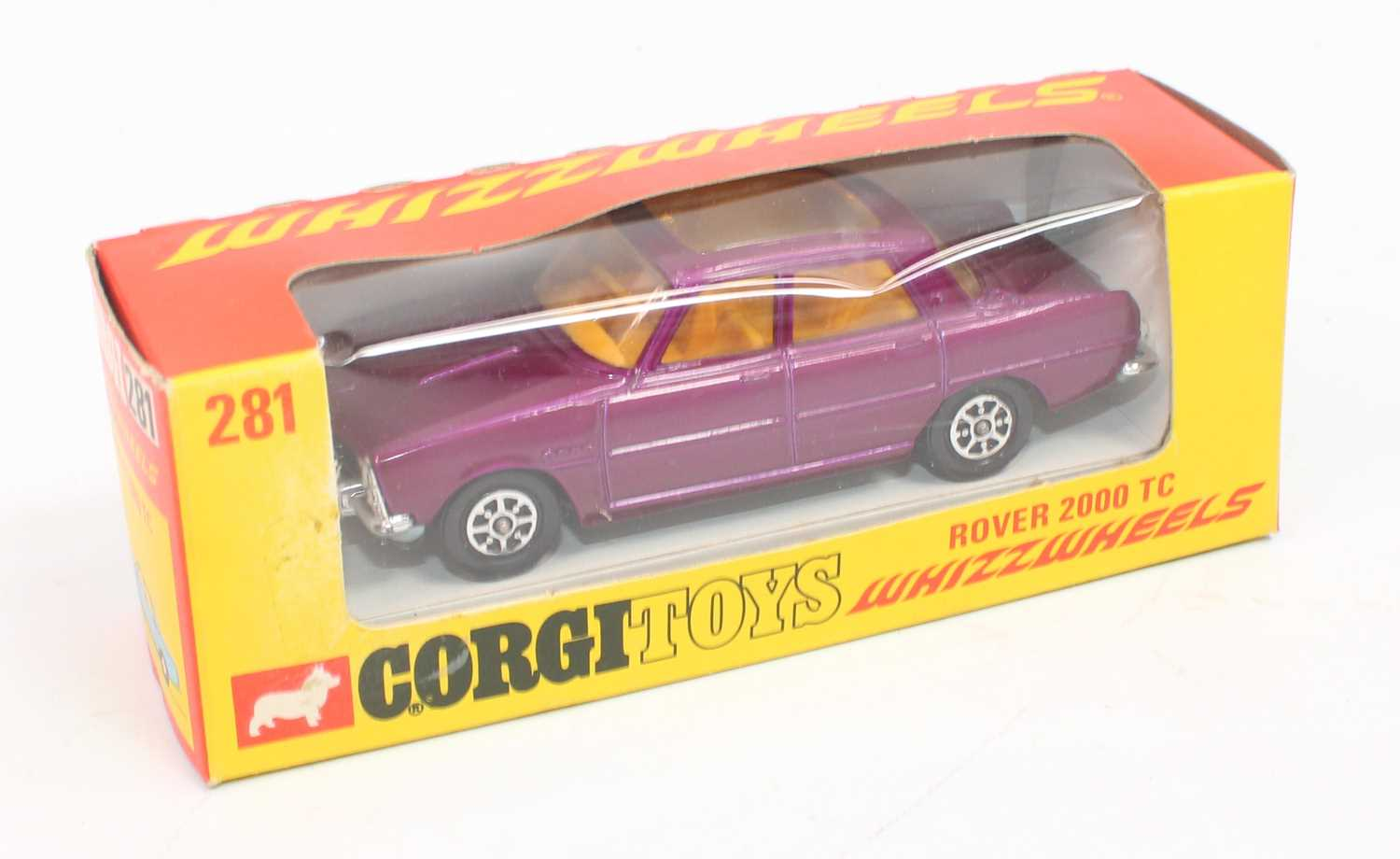 Corgi Toys 281, Rover 2000TC in purple with whizzwheels, mint condition complete with Corgi club - Image 3 of 3