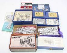 A collection of various mixed white metal military figure kits to include under two flags,