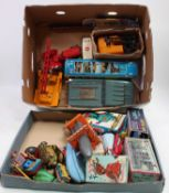 Collection of various tinplate cars and novelty toys in play-worn condition, to include Battery