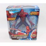 A Hasbro Marvel The Amazing Spiderman motorised webshoot and action figure, housed in the original