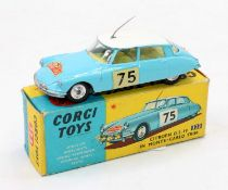Corgi Toys, 323 Citroen DS19 in Monte Carlo trim, pale blue body with white roof, lemon interior