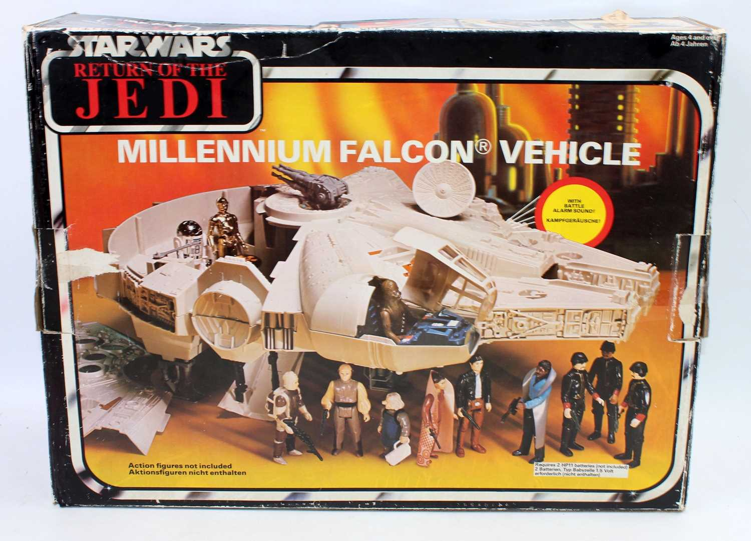 A Star Wars Palitoy Return of the Jedi Millennium Falcon boxed vehicle, appears complete and