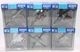 A group of 13 Collection Armour 1:100th scale aircraft, all boxed as follows: Phantom x 7,