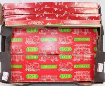 Tray containing LGB boxed track: 2x12x300mm straights and two each L/H and R/H points Ref. 12000/