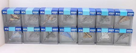 A group of 27 Collection Armour 1:100th scale military aircraft, all boxed as follows: F16 x11,