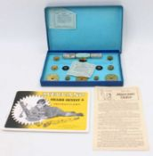 A Meccano 1950s gears outfit A, as new and housed in the original blue ground labelled card box,