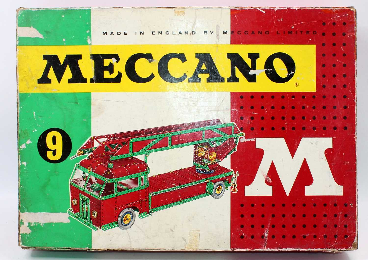 A Meccano No.9 construction set, housed in the original box with various instruction leaflets, - Image 2 of 2