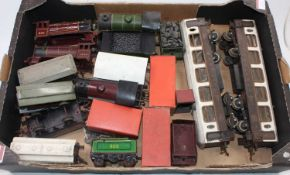 A miscellany of 'O' gauge items:- Hornby M3 LMS loco 2270, Hornby 501 LNER loco and tender bodies