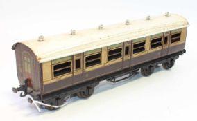 1921 Series Bing for Bassett-Lowke bogie coach LNWR 1921 brown and cream 1st class corridor, will
