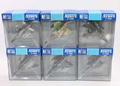 A group of 12 Collection Armour 1:100th scale aircraft, all boxed as follows: 6 x Phantoms in