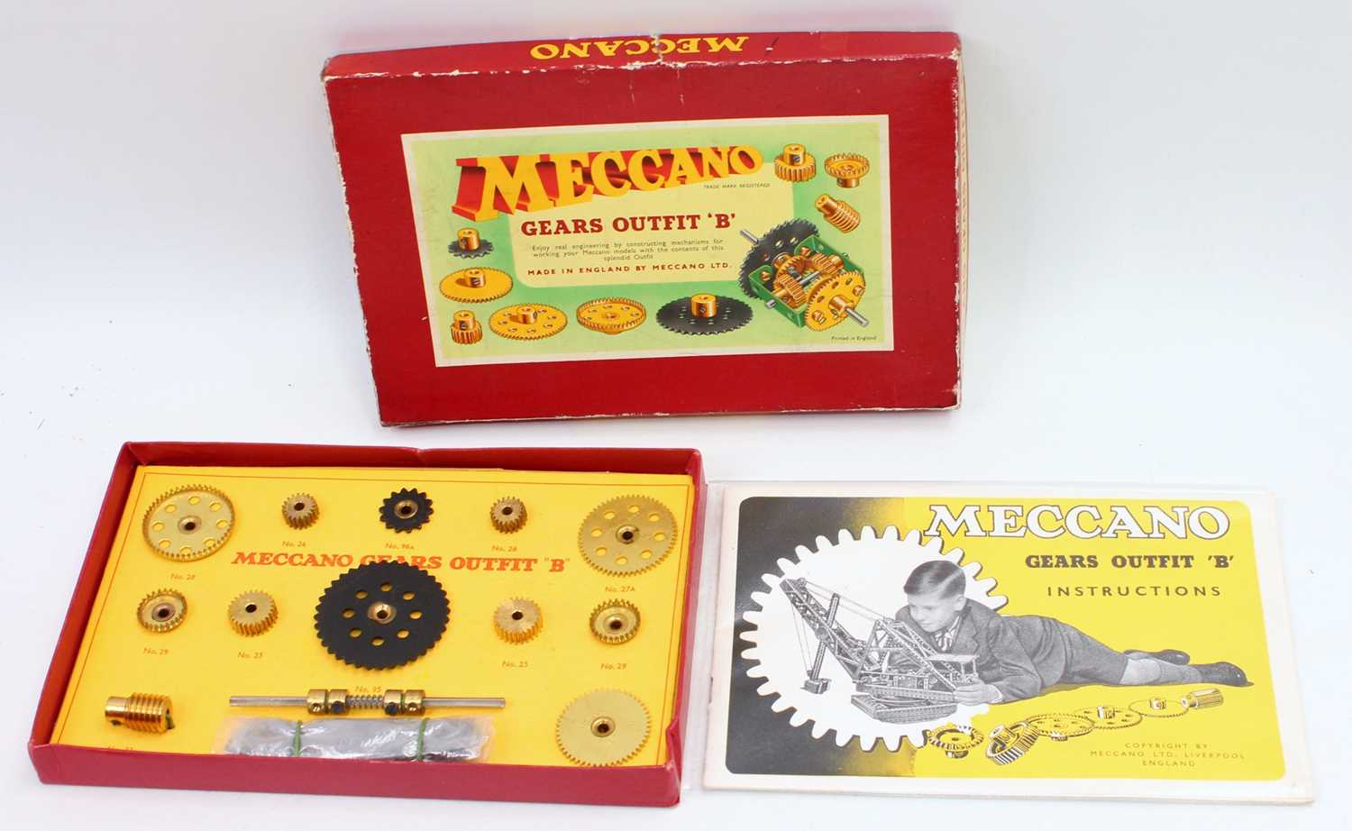 Two Meccano 1950s/60s gears outfit B box sets, both in original boxes with leaflets, both appear - Image 2 of 2