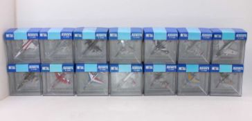 A group of 26 Collection Armour 1:100th scale military aircraft, all boxed as follows: Fury x3, Hawk