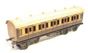 1921 Series Bing for Bassett -Lowke bogie coach LNWR 1921 brown and cream 1st class corridor, will