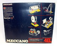 A Meccano 4EL Elektrikit, housed in the original polystyrene packed box with two related instruction