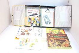 Two lever arch files containing a quantity of Meccano instruction booklets and ephemera,