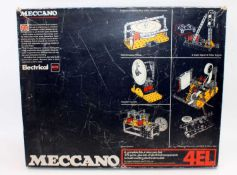 A Meccano No.4EL Elektrikit Meccano gift set, housed in the original polystyrene packed box with