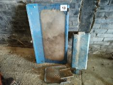 Battery Cover, Back Window and Step off Ford Tractor