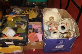 A large collection of miscellaneous items, to include a pair of Japanese satsuma style vases, a