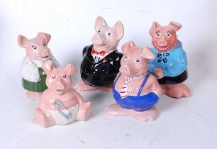 A set of five Wade Natwest pig money-boxes