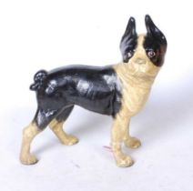 A painted cast metal doorstop in the form of a bulldog, h.24cm