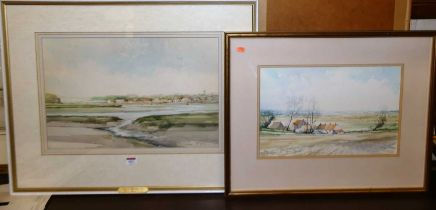 Jason Partner (1922-2005) - View of Woodbridge, watercolour, signed and dated '77 lower right, 33