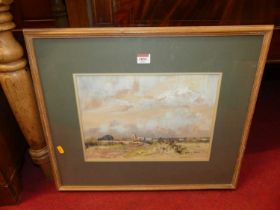 Doreen Allen (1916-2000) - Morston, Norfolk, pastel, signed lower right, with exhibition label verso