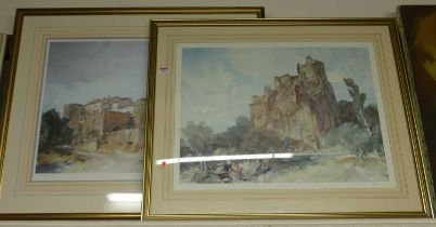 William Russell Flint (1880-1969) - Bathers on a riverbank with ruins beyond, lithograph, unsigned