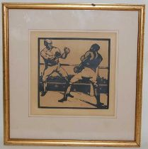Nicholson, William - an Almanac of Sport, first edition Heinenmann, lithographic print of pugilists,